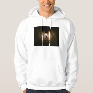 lamp with angel wings reflection on wall hoody