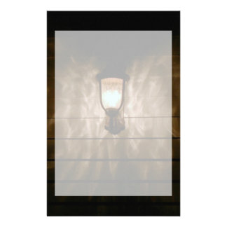 lamp with angel wings reflection on wall stationery