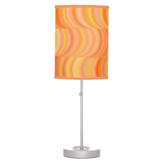 Lámpara - acento - curvas anaranjadas calientes