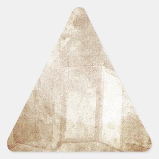 Lámpara asombrosa apenada marrón soñador retro del pegatina triangular