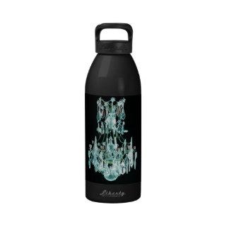 Lámpara azul helada botellas de beber