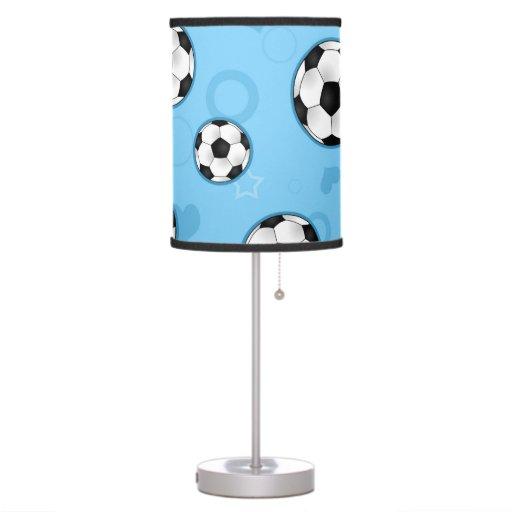 Lámpara azul linda del balón de fútbol