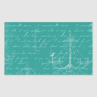 lámpara azul y escritura del vintage pegatina