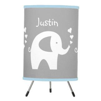 Lámpara azul y gris del elefante para el sitio del