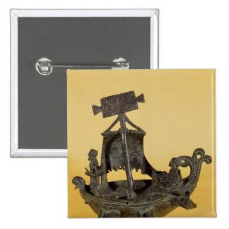 Lámpara bajo la forma de barco pin cuadrada 5 cm
