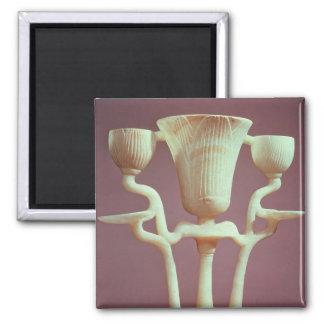 Lámpara bajo la forma de tres flores de loto imán cuadrado