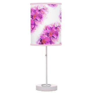 Lámpara blanca de la orquídea del Watercolour del