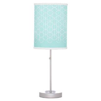 Lámpara blanca ligada de la aguamarina del modelo