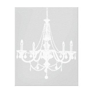Lámpara blanca y gris elegante lienzo envuelto para galerías
