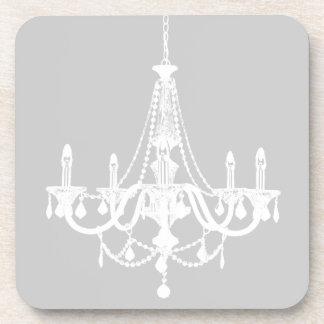Lámpara blanca y gris elegante posavasos