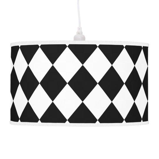 Lámpara blanco y negro de Argyle