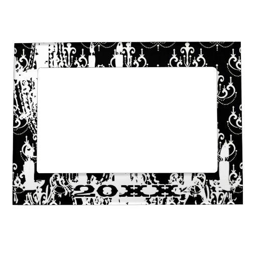 Lámpara blanco y negro elegante personalizada marcos magneticos