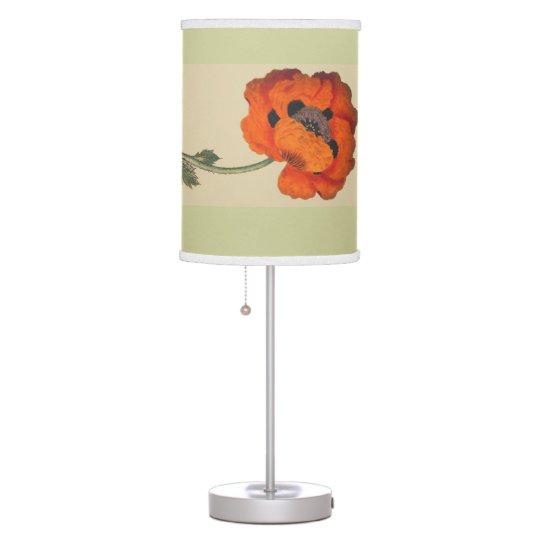 Lámpara botánica de las flores del vintage