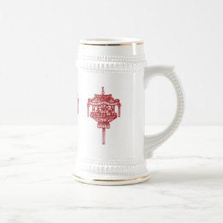 Lámpara china roja tazas de café