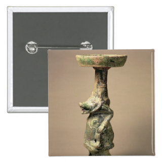 Lámpara china temprana de la cerámica, artefacto d pins