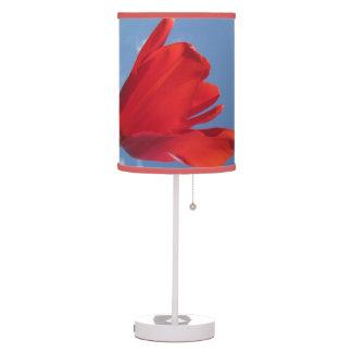 Lámpara - cielo azul del tulipán rojo