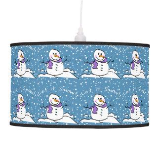 Lámpara colgante del muñeco de nieve