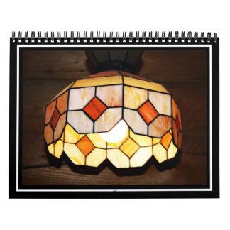 Lámpara colgante del vitral calendario de pared