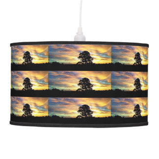 Lámpara colorida de la salida del sol