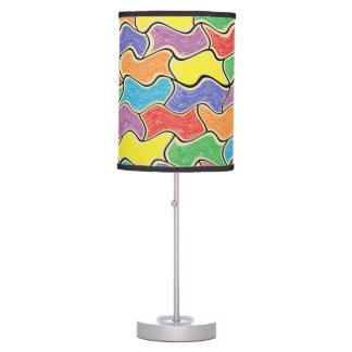 Lámpara colorida de las fluctuaciones