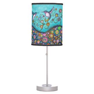 Lámpara colorida del arte del asilo del colibrí
