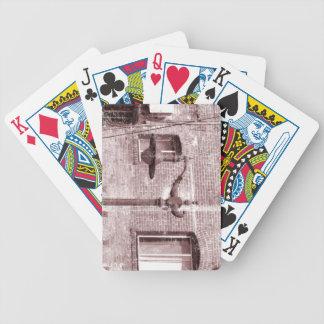 Lámpara de calle del vintage barajas de cartas