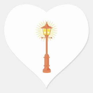 Lámpara de calle pegatina en forma de corazón