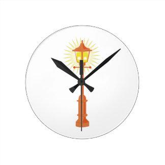Lámpara de calle reloj redondo mediano
