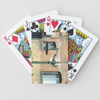 Lámpara de calle verde del vintage barajas de cartas