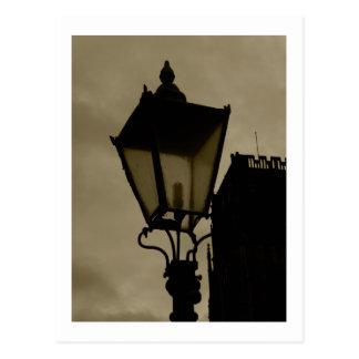 Lámpara de calle vieja postal
