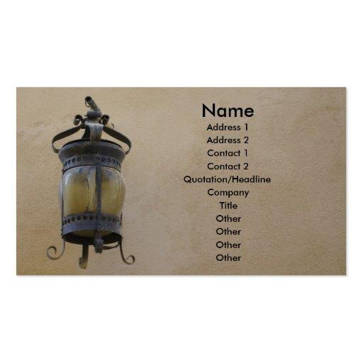 Lámpara de calle vieja tarjetas de visita
