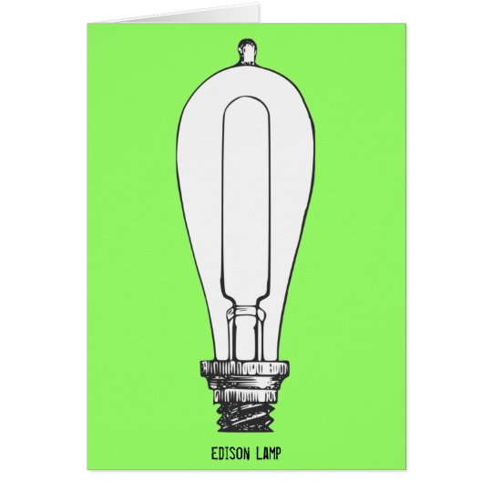 Lámpara de Edison Tarjeta Pequeña