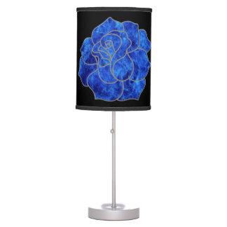 Lámpara de escritorio color de rosa azul
