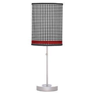 Lámpara de Houndstooth - banda negra del rojo del
