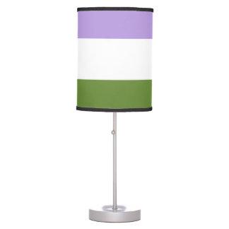 lámpara de la bandera del genderqueer