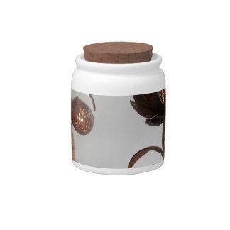 lámpara de la cáscara del coco plato para caramelo