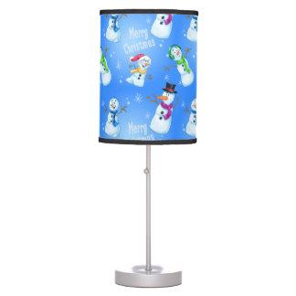 lámpara de la familia del muñeco de nieve del