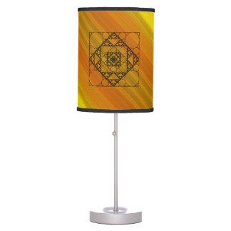 Lámpara de la geometría del fractal