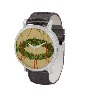 Lámpara de la guirnalda del navidad del vintage relojes de pulsera