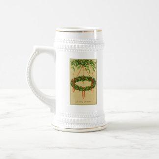 Lámpara de la guirnalda del navidad del vintage taza de café