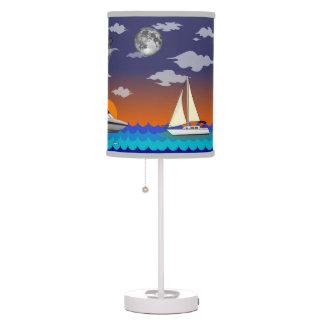 Lámpara de la historia de la puesta del sol de los