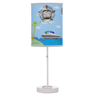 Lámpara de la historia de los marineros de la isla
