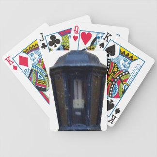 Lámpara de la luz de calle del vintage baraja cartas de poker