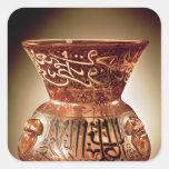 Lámpara de la mezquita con la decoración esmaltada pegatina cuadrada