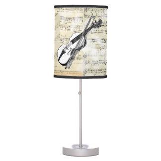 Lámpara de la música del violín del vintage