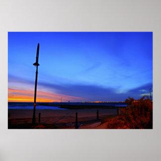 Lámpara de la playa poster