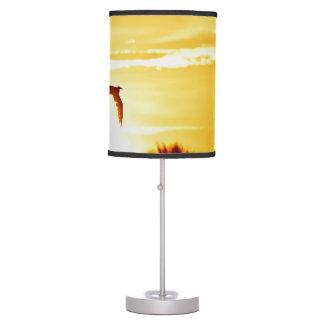 Lámpara de la puesta del sol de la garza