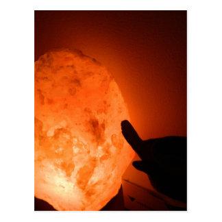 Lámpara de la sal de Himilayan con el pájaro Tarjetas Postales