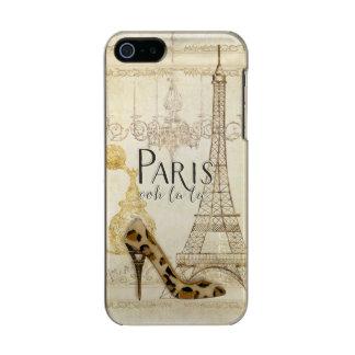 Lámpara de la torre Eiffel de la moda del la del Carcasa De Iphone 5 Incipio Feather Shine