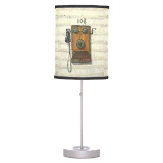 lámpara de mesa antigua del teléfono de la pared